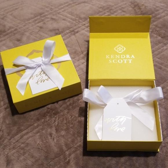 Kendra Scott Yellow Gift Box New Unused